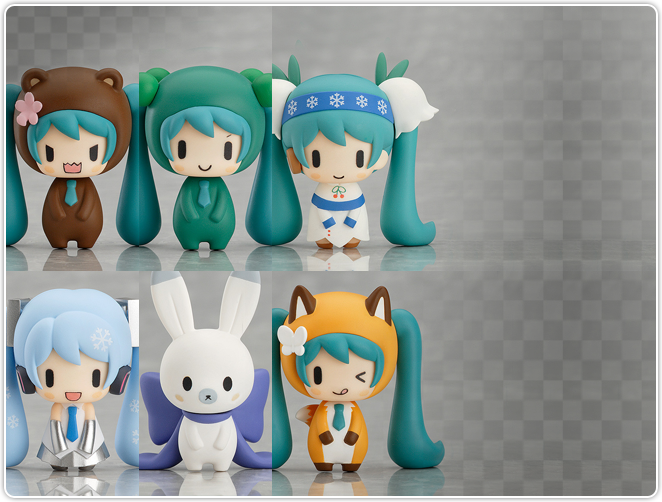 Nendoroid Plus Capsule Factory Snow Miku and Friends from the North Season 1