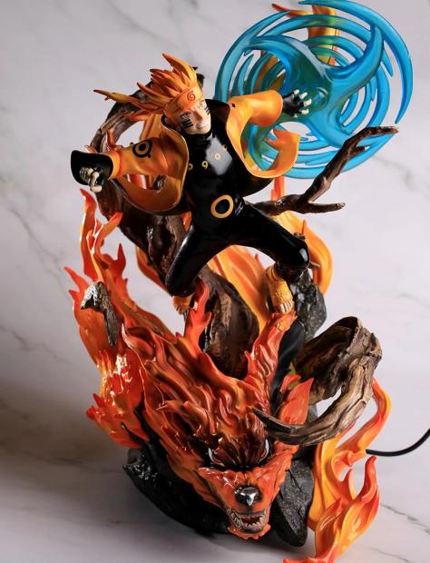 uzumaki naruto on fire with fire base